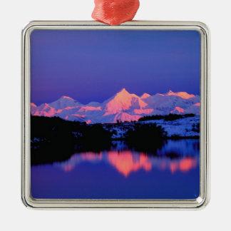 The Alaskan Range is adjacent to Mt. Denali, Christmas Ornament