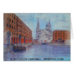 The Albert Dock Liverpool Card by Colin Carr-Nall
