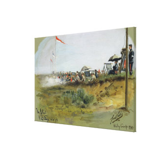 The Albert - First Stage, 900 yards, Bisley Camp, Stretched Canvas Print