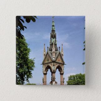 The Albert Memorial from the Albert Hall 15 Cm Square Badge