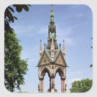 The Albert Memorial from the Albert Hall Square Sticker