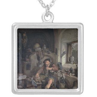 The Alchemist, 1663 Silver Plated Necklace