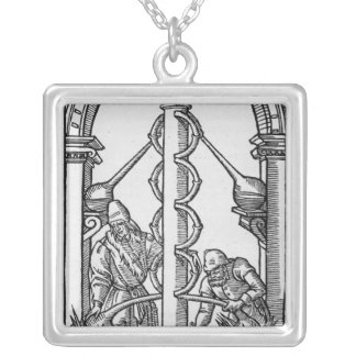 The Alchemist at Work Silver Plated Necklace