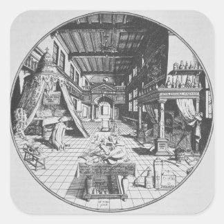 The Alchemist in his Laboratory from Amphitheatr Square Stickers
