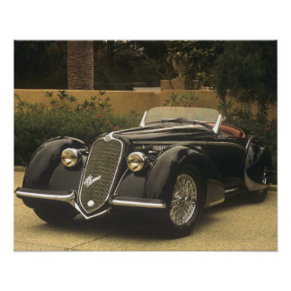 The Alfa Romeo 8C 2900B is a very rare and very Poster