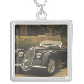 The Alfa Romeo 8C 2900B is a very rare and very Silver Plated Necklace