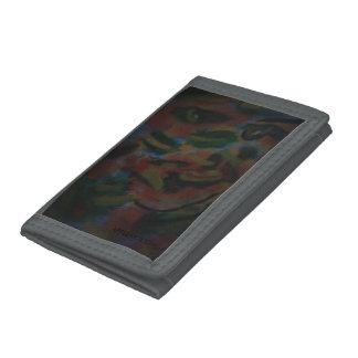 The Algae GRAY TRIFOLD NYLON WALLET by APpleartcom