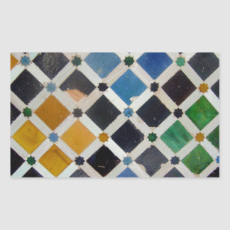 The Alhambra Andalusia Spain Rectangular Sticker