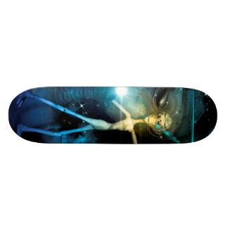 The alien in the universe skateboards