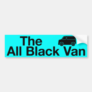 The All Black Van: blue bumper sticker