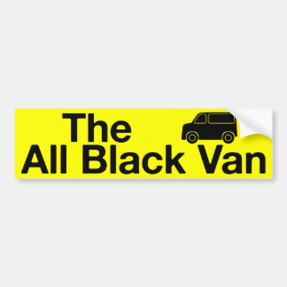 The All Black Van: yellow bumper sticker