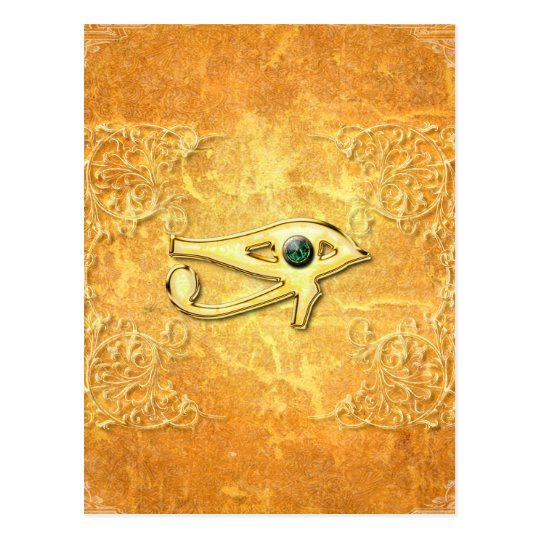 The all seeing eye with eye made of diamond postcard