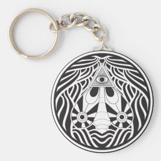 The all seeing moth key chain