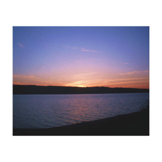 THE ALLEGHENY RIVER SUNSET canvas Stretched Canvas Prints
