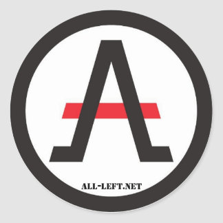 The ALLiance of the Libertarian Left of stickers