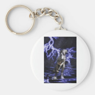 The Almighty Arabian Basic Round Button Key Ring