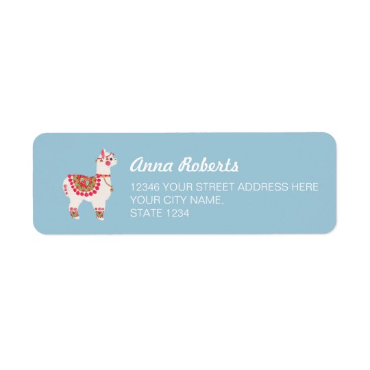 The Alpaca Return Address Label