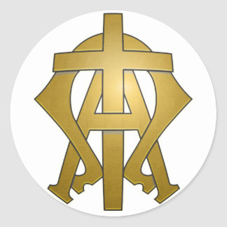 The Alpha & The Omega Sticker