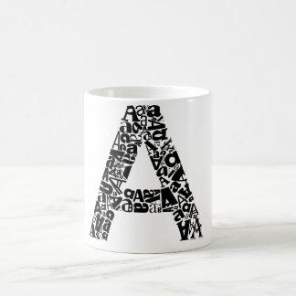 The Alphabet Letter A Basic White Mug