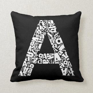 Letter A Throw Pillow : Alphabet Letter Cushions - Alphabet Letter Scatter Cushions Zazzle.co.uk