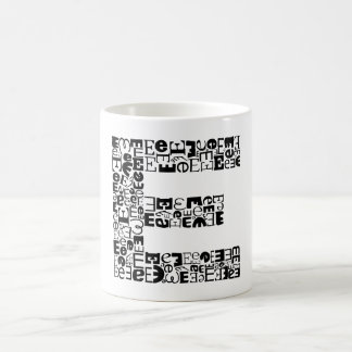 The Alphabet Letter E Coffee Mug