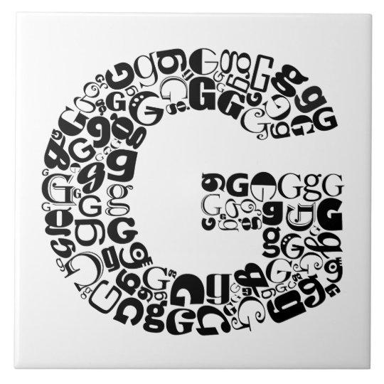 The Alphabet Letter G Large Square Tile