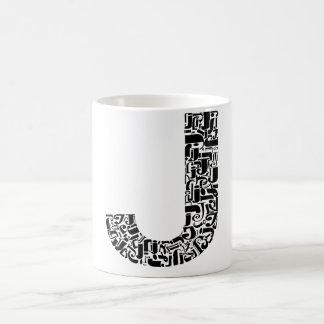 The Alphabet Letter J Basic White Mug