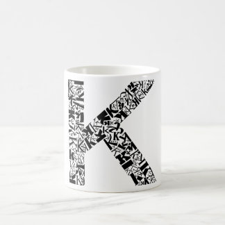 The Alphabet Letter K Coffee Mug
