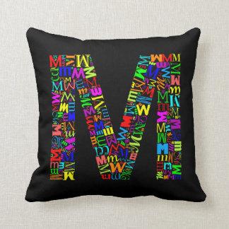 The Alphabet Letter M Cushion