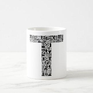 The Alphabet Letter T Basic White Mug