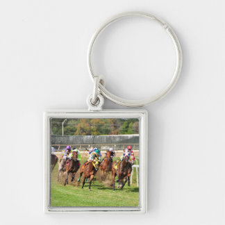 The Alphabet Soup Silver-Colored Square Key Ring