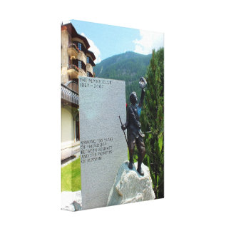 The Alpine Club statue Gallery Wrapped Canvas