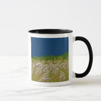 The Alpine fault along the west coast Mug