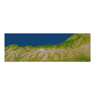 The Alpine fault along the west coast Photographic Print