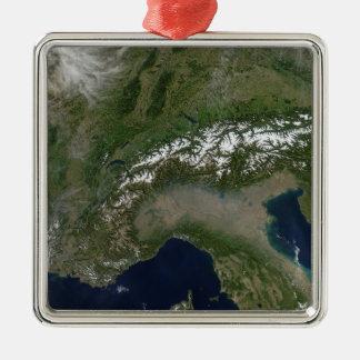 The Alps 2 Silver-Colored Square Decoration