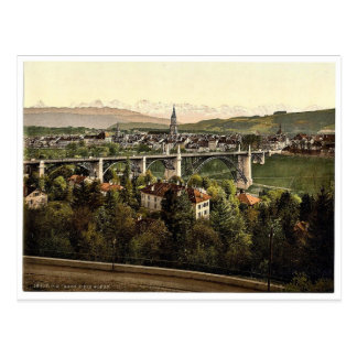 The Alps, Berne, Switzerland vintage Photochrom Postcard