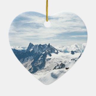 The Alps mountain range - Stunning! Ceramic Heart Decoration