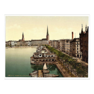 The Alster Cathedral, Junfernsteig, Hamburg, Germa Postcard