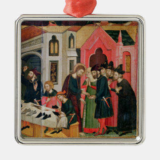 The Altarpiece of SS. Mark and Ania Silver-Colored Square Decoration