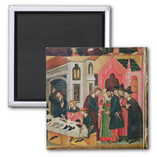 The Altarpiece of SS. Mark and Ania Square Magnet