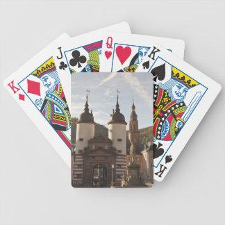 The Alte Brucke in Old Town, Heidelberg, Germany Poker Deck
