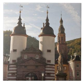 The Alte Brucke in Old Town, Heidelberg, Germany Tile