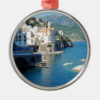 The Amalfi Vista Silver-Colored Round Decoration