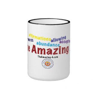 'The Amazing A's' mug. Ringer Mug