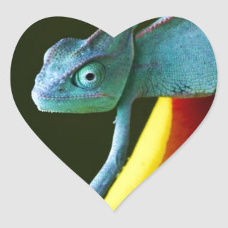 The Amazing Chameleon Heart Sticker