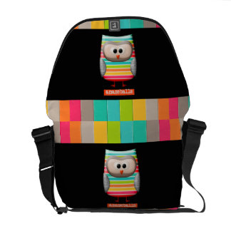 The Amazing Striped Amazeballs Owl Commuter Bag