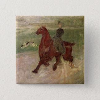 The Amazon, 1882 (oil on canvas) 15 Cm Square Badge