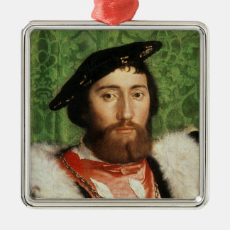 The Ambassadors, 1533 Silver-Colored Square Decoration