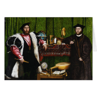 The Ambassadors by Hans Holbein the Younger Greeting Cards