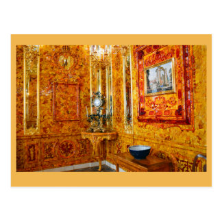 The Amber Room, Catherine Palace, Russia Postcard